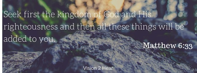 Seek first the kingdom of God and His
