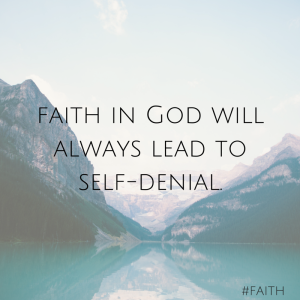 God doesn't call me to a life of full-blown knowledge but full-fledged faith. (1)